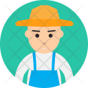 Farmer People Work Icon