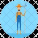 Farmer Farm Village Icon
