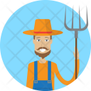 Farmer Character Profession Icon
