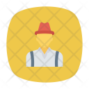 Farmer Male Rancher Icon