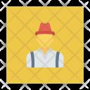 Farmer Male Rancher Icon