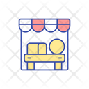Farmers Market Stall Icon