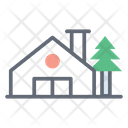 Farmhouse Building Agricultural Building Icon