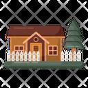 Farmstead Farmhouse Hut Icon