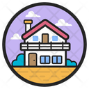 Farmhouse Country House Rest House Icon