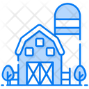 Farmhouse Country House Barn Icon