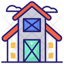 Farmhouse Farm Barn Icon