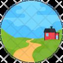 Farmhouse Hut Nature Icon