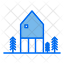 Farmhouse House Real Estate Icon