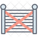 Farmhouse Gate Gateway Entrance Icon