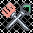 Hand Rake Spade Farming Tool Icon