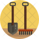 Spade Fork Pitchfork Icon