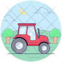 Farming Tractor Agriculture Machine Land Tractor Icon
