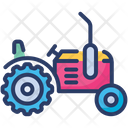 Farming Tractor Vehicle Icon