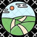 Farmland Farm Fields Agriculture Icon