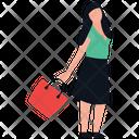 Fashionable Girl Icon