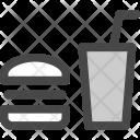 Fast Hamburger Soda Icon