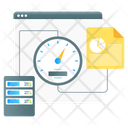 Web Speed Web Optimization Web Dashboard Icon