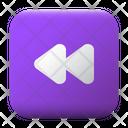 Fast Backward Ui Button Icon