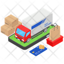 Fast Delivery Shopping Delivery Cargo Van Icon