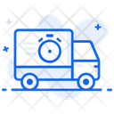 Fast Delivery Delivery Van Shipping Truck Icon