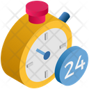 Logistics Delivery Stopwatch Icon