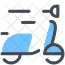 Scooter Food Delivery Shipping Icon