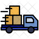 Fast Delivery Delivery Truck Tracking Icon