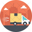 Truck Delivery Enroute Icon