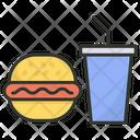 Fast Food Junk Food Burger Icon