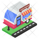 Food Trailer Food Cart Food Stall Icon