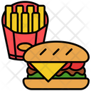 Burger Sandwich Breakfast Icon