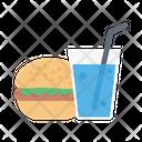 Fast Food Juice Burger Icon