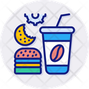 Fast Food Burger Drink Icon