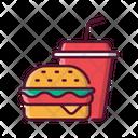 Fast Food Burger Cheeseburger Icon