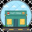 Fast Food Food Shop Restaurant Exterior Icon