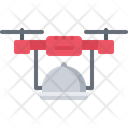 Drone Cloche Food Icon