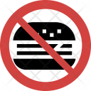 Fast-food not allowed Icon