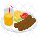 Fast Food Platter Icon