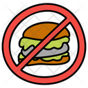 Fast Food Prohibition Burger Prohibition Restricted Fast Food Icon