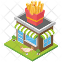Fast Food Shop Icon