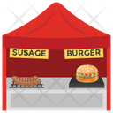 Fast Food Food Stall Burger Point Icon