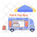 Fast Food Van Roadside Food Food Wagon Icon