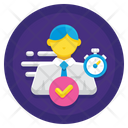 Fast Identification Time Icon