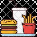 Fastfood Hamburger French Icon