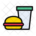 Fastfood Burger Drink Icon