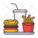 Fastfood Hamburger French Fries Icon