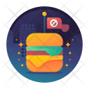 No Junk Fast Food Icon