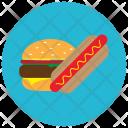 Hamburger Hotdog Fastfood Icon
