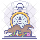 Fastfood Stopwatch Time Icon